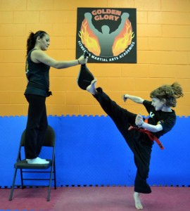 Teen in karate class in Surrey