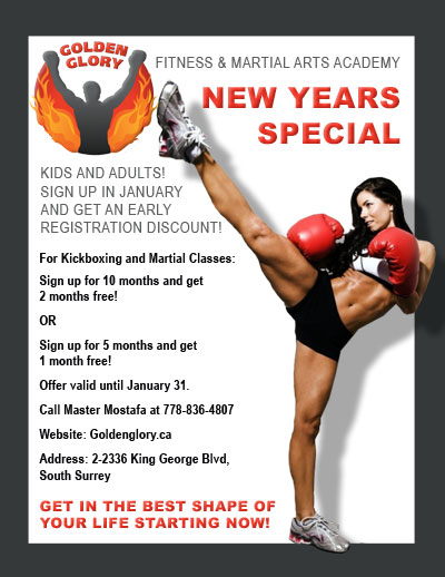Kickboxing discount for Martial Arts studio in South Surrey / White Rock