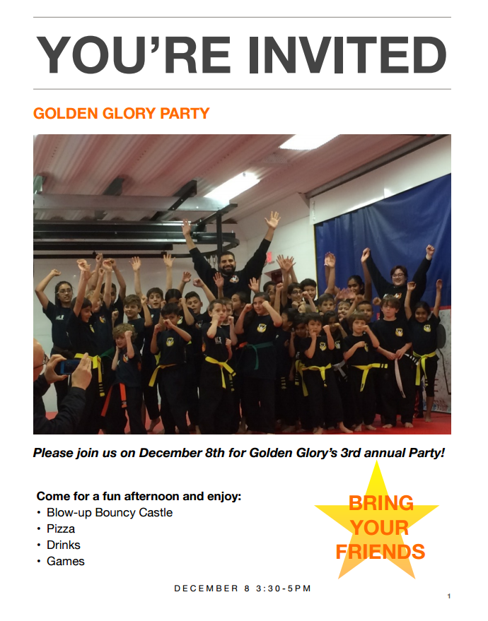 Martial Arts Studio Party South Surrey