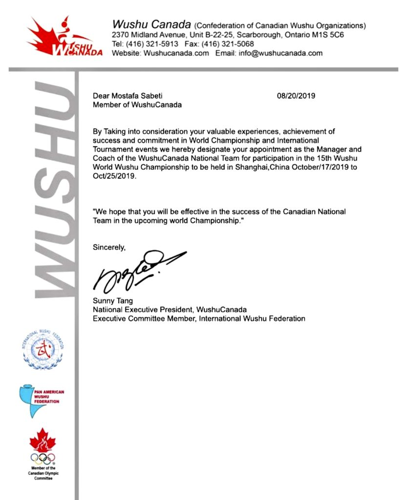 Kickboxing coach chosen for Wushu Canada National Team